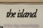 sign for The Island