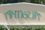 sign for Antigua