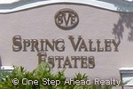 sign for Spring Valley Estates