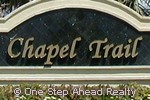 Chapel Trail community sign