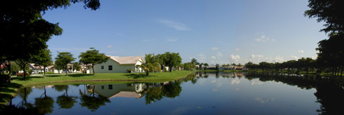 beautiful lake view at Spring Valley in Pembroke Pines, Florida